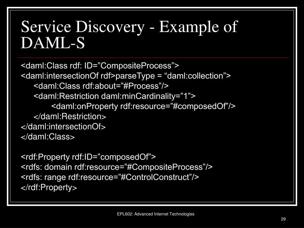Service Discovery - Example of DAML-S