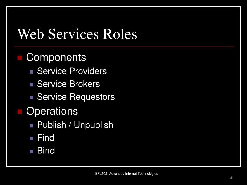 Web Services Roles