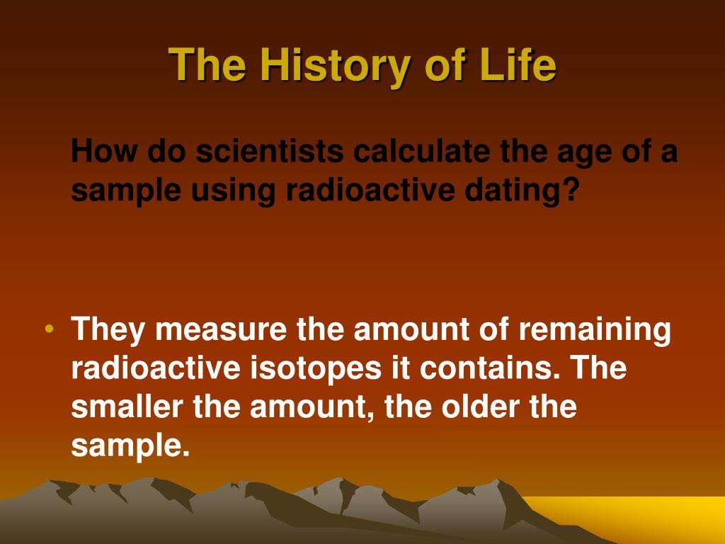 What is radioactive hookup and how is it used to tell the age of materials