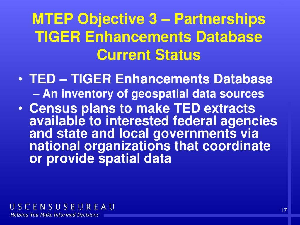 MTEP Objective 3 – Partnerships