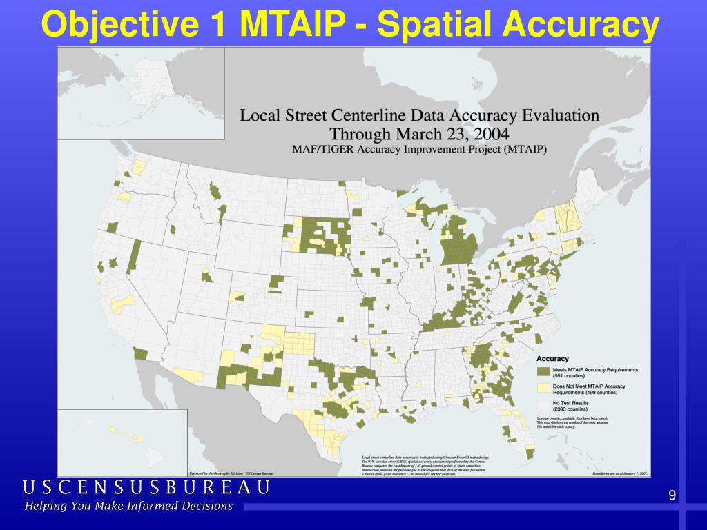 Objective 1 MTAIP - Spatial Accuracy