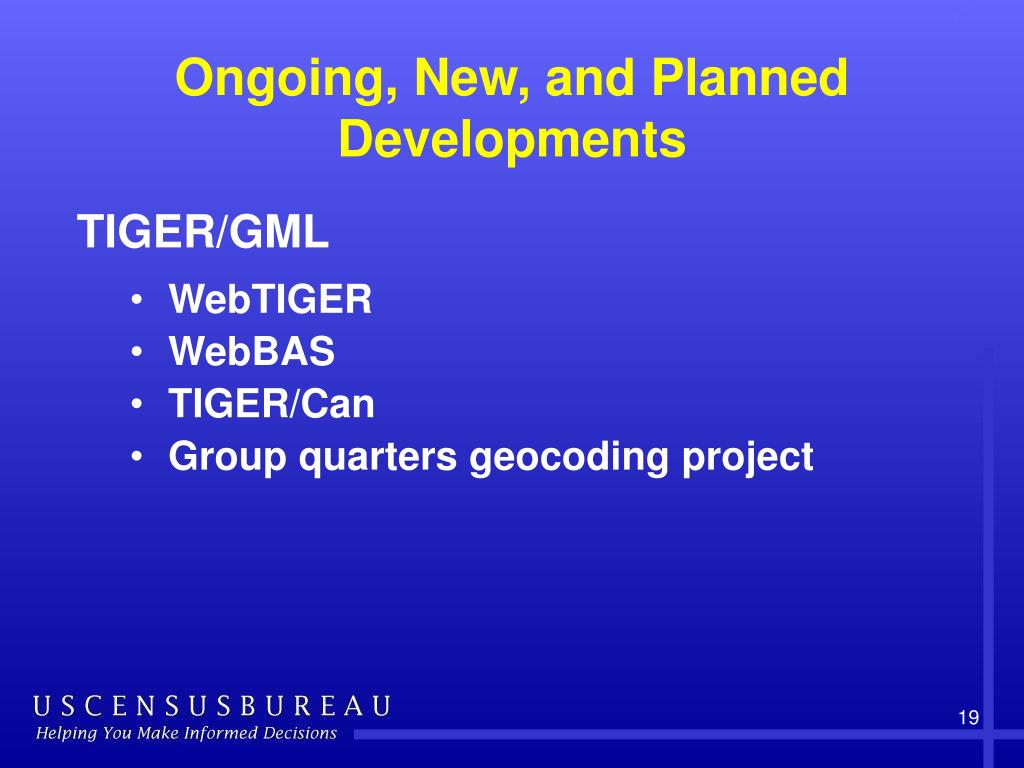 Ongoing, New, and Planned Developments