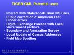tiger gml potential uses
