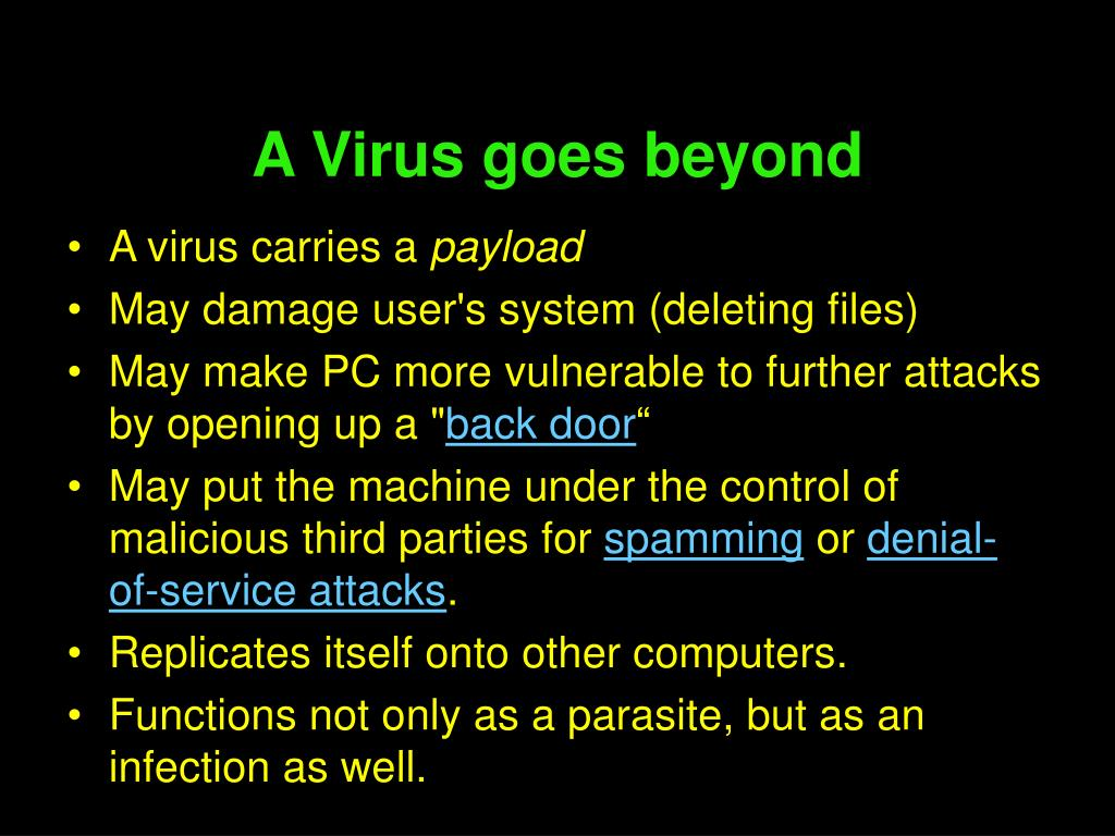 A Virus goes beyond