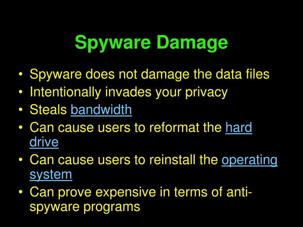 Spyware Damage