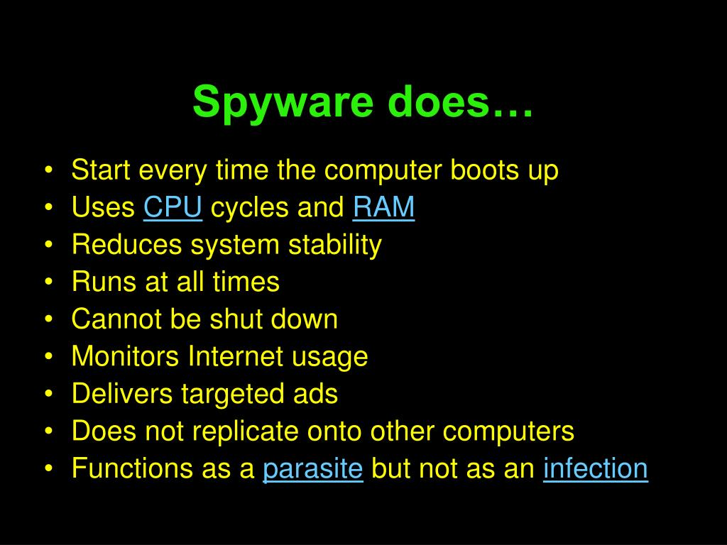 Spyware does…
