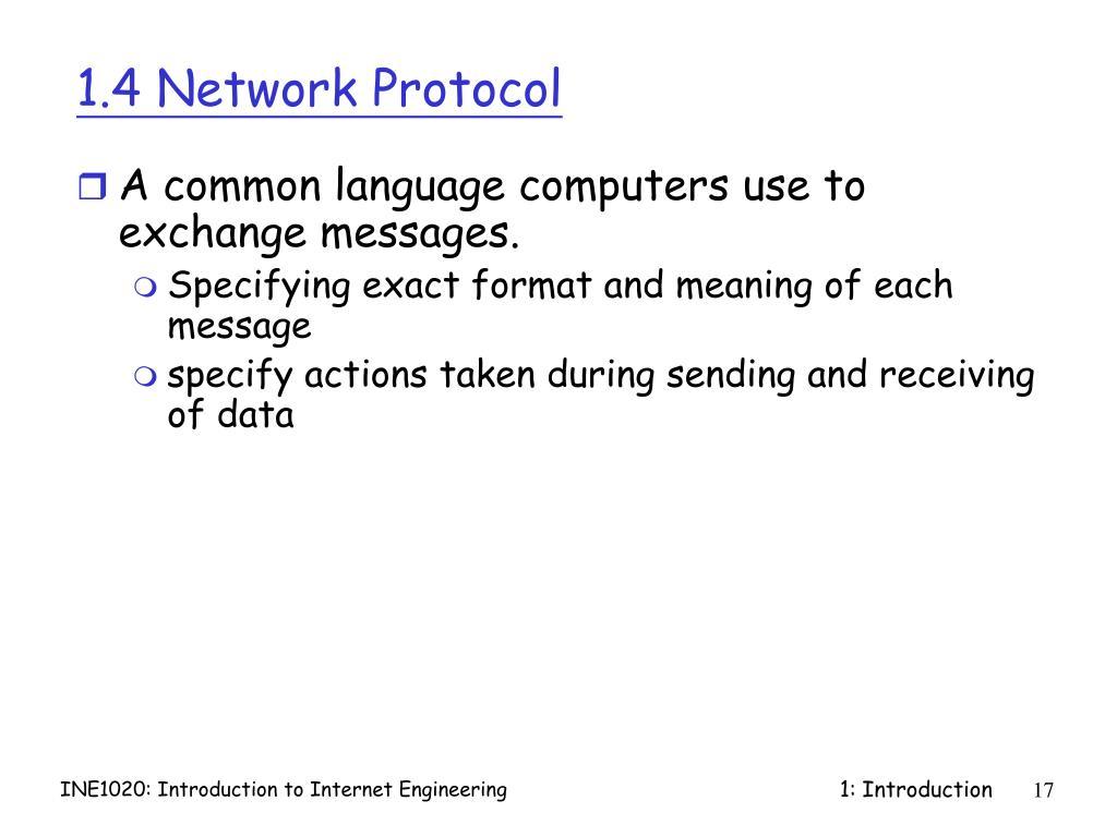 1.4 Network Protocol