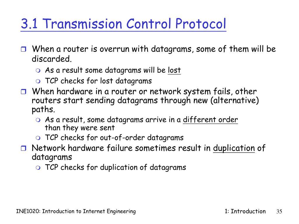 3.1 Transmission Control Protocol