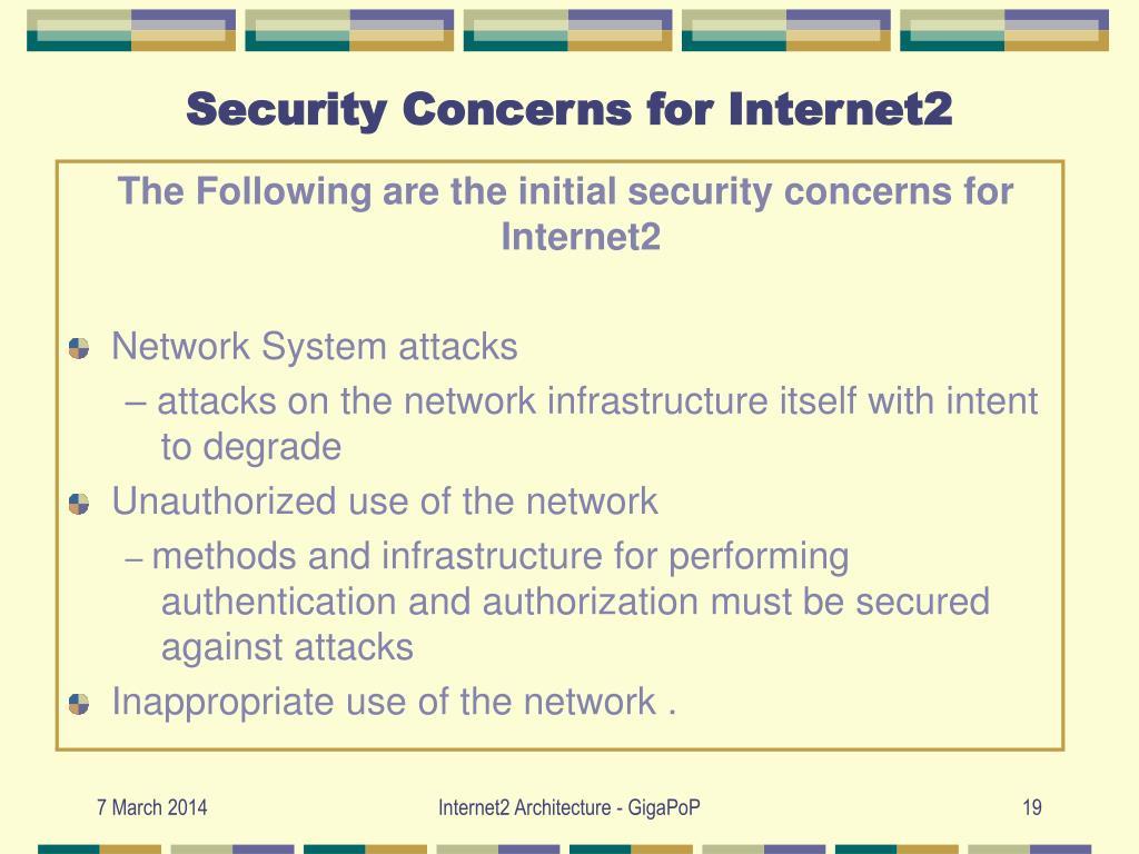 Security Concerns for Internet2