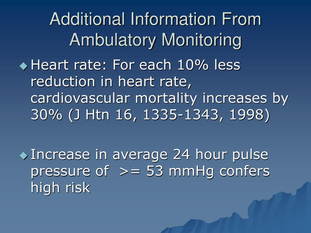 Additional Information From Ambulatory Monitoring