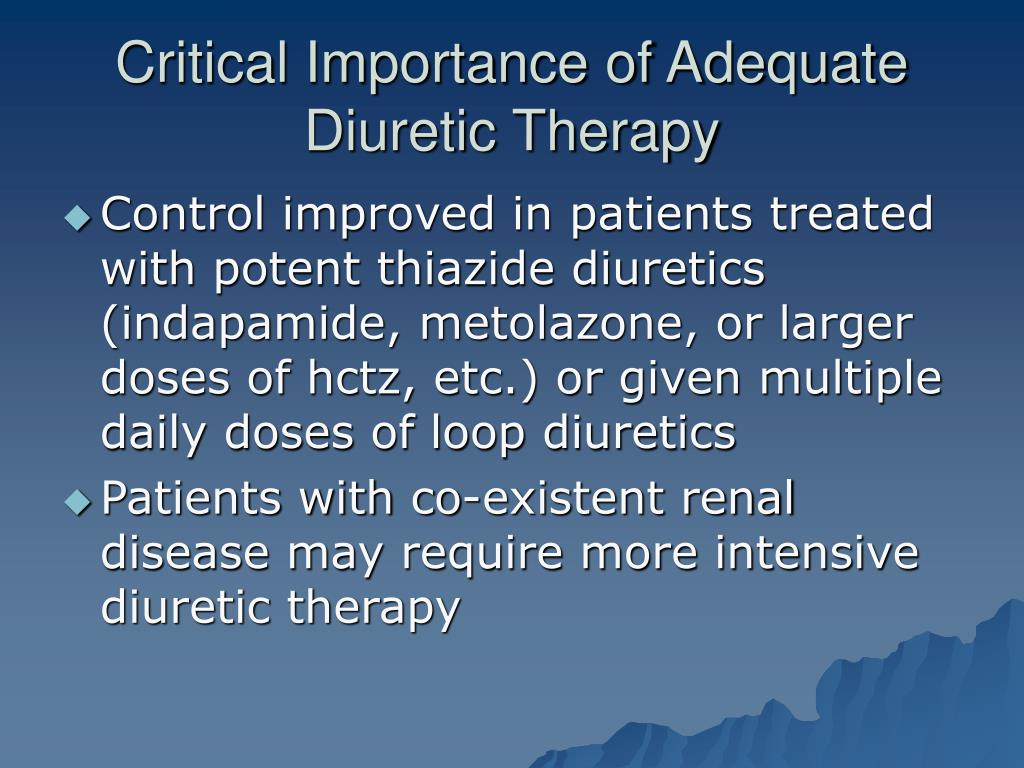 Critical Importance of Adequate Diuretic Therapy