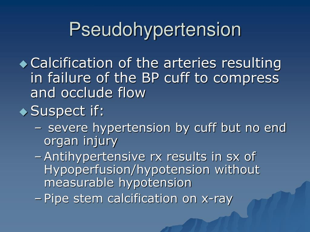 Pseudohypertension