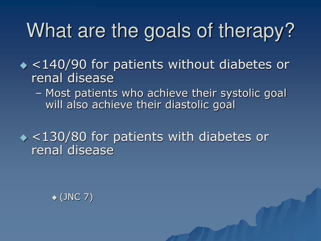 What are the goals of therapy?