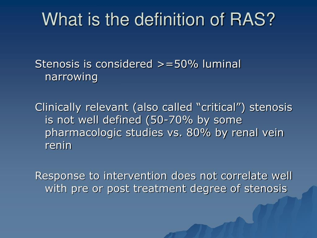 What is the definition of RAS?