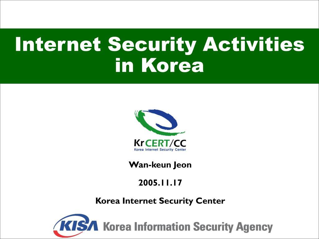 Internet Security Activities