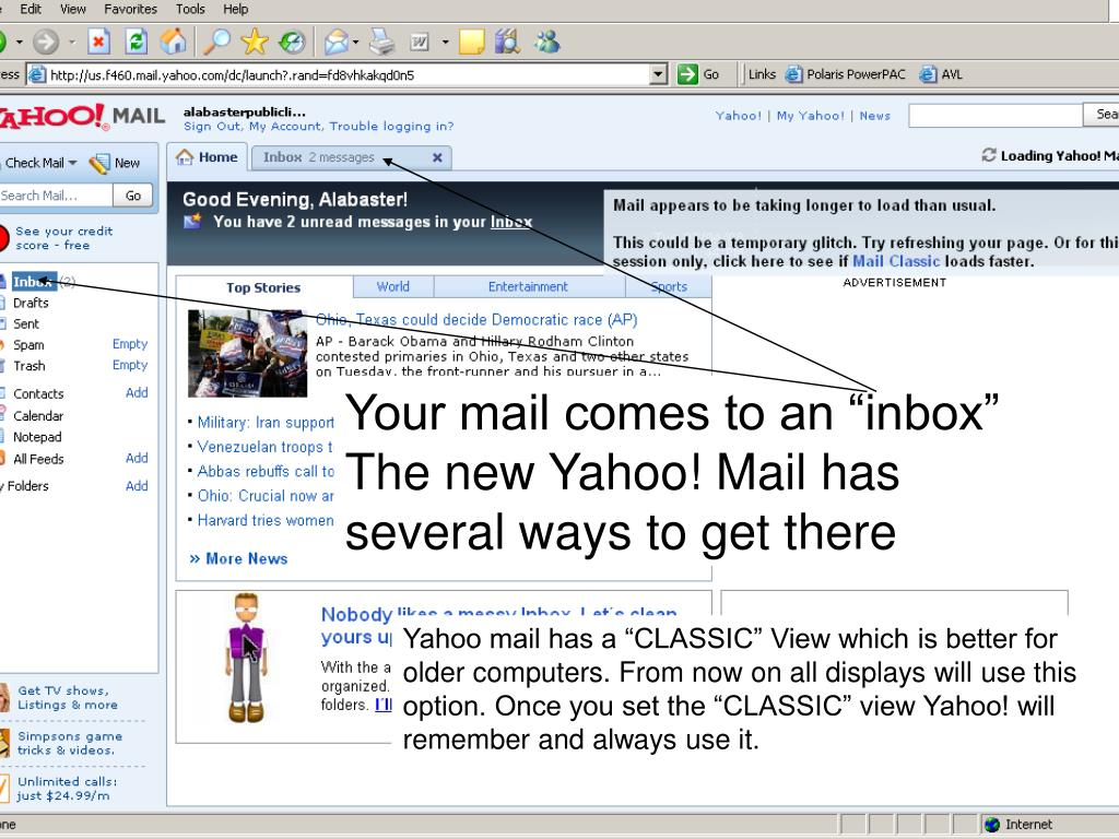 "Your mail comes to an ""inbox"""