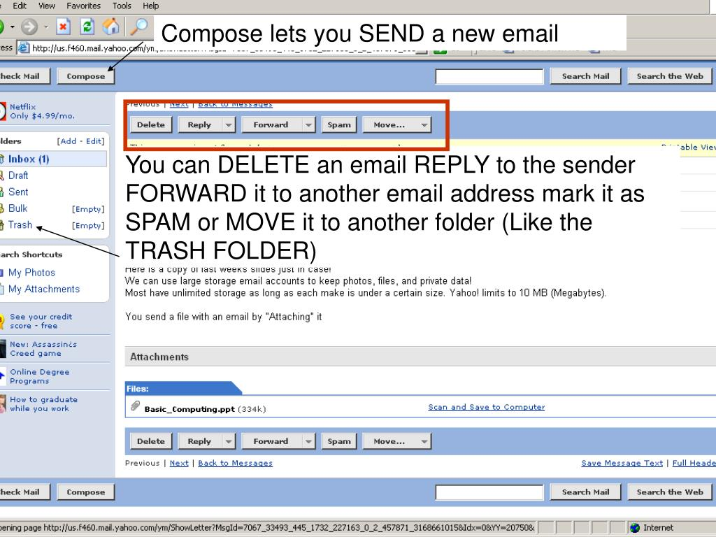 Compose lets you SEND a new email