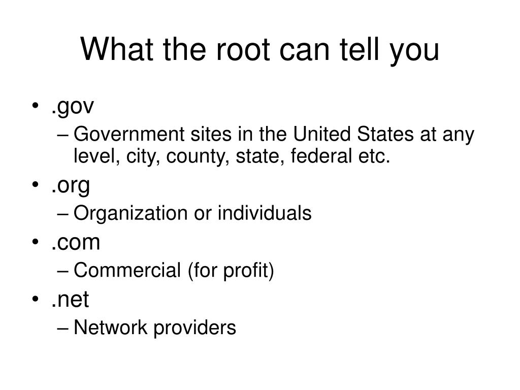 What the root can tell you