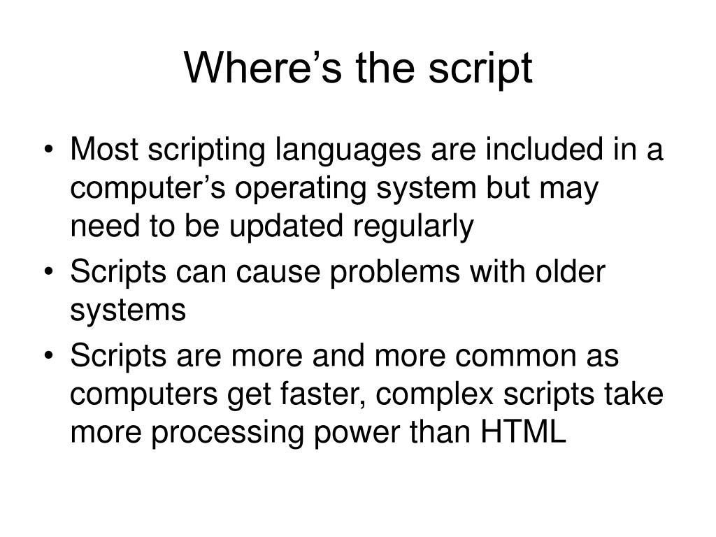 Where's the script