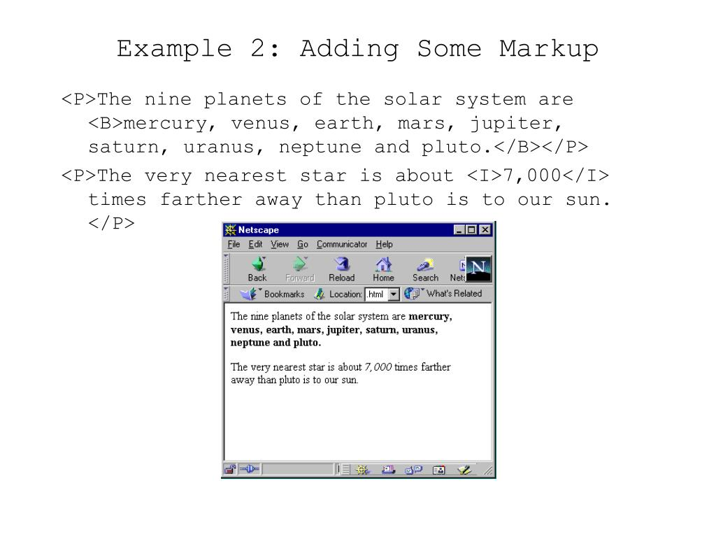 Example 2: Adding Some Markup