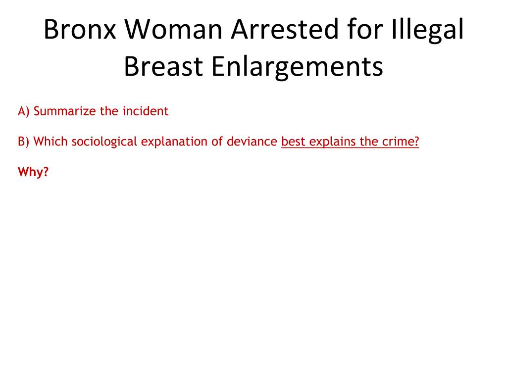 Bronx Woman Arrested for Illegal Breast Enlargements