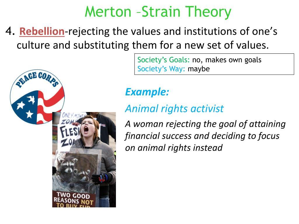 Merton –Strain Theory