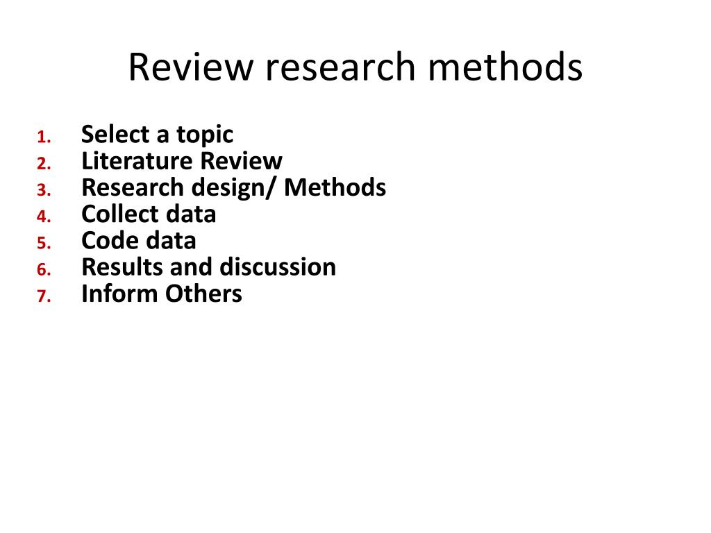 Review research methods