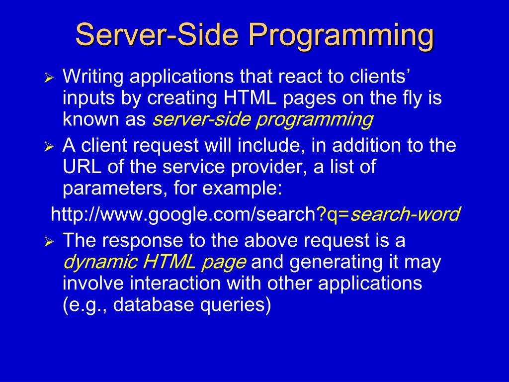 Server-Side Programming