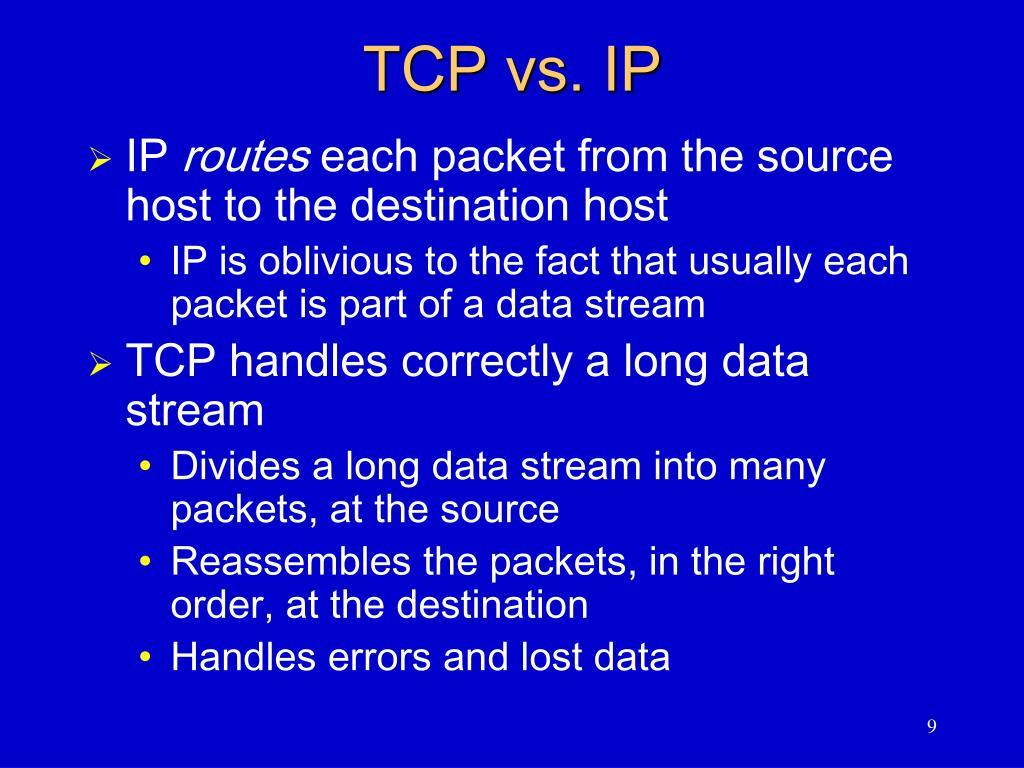 TCP vs. IP