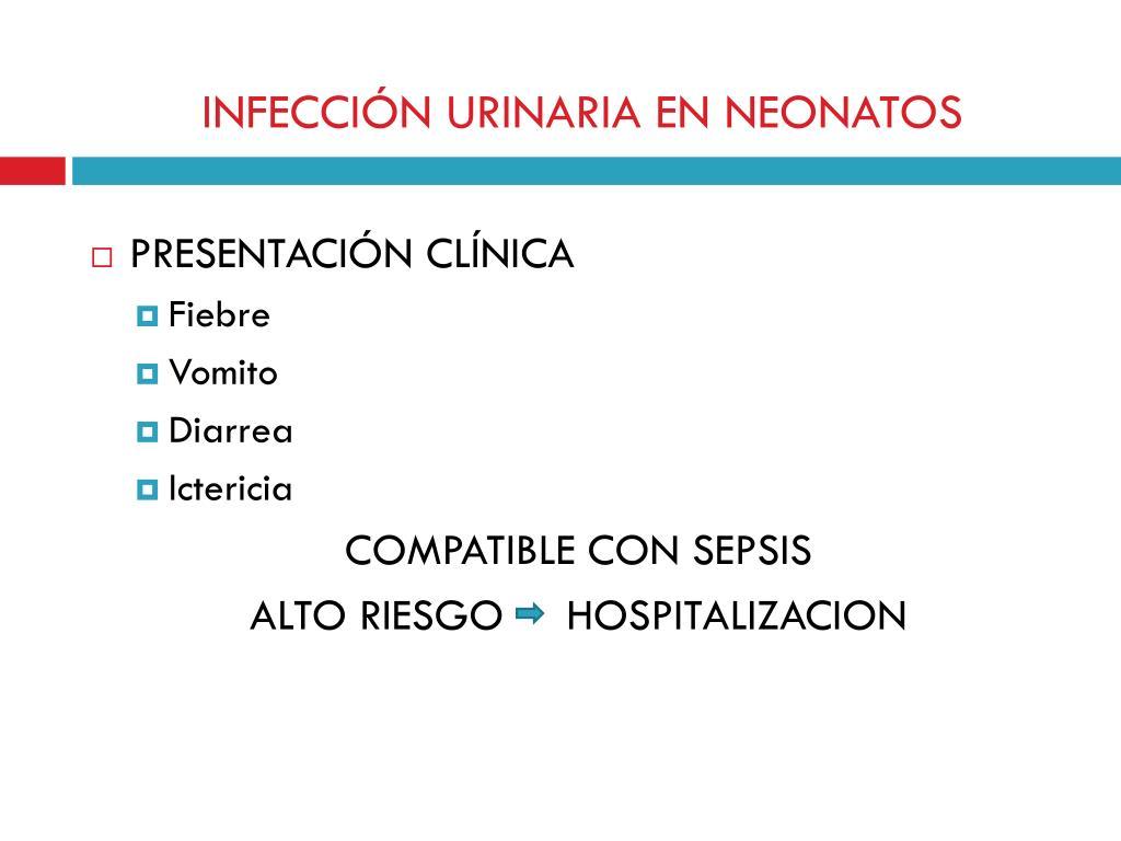 INFECCIÓN URINARIA EN NEONATOS
