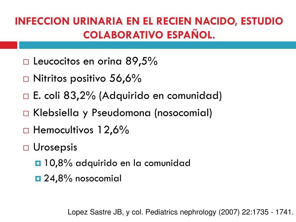 INFECCION URINARIA EN EL RECIEN NACIDO, ESTUDIO COLABORATIVO ESPAÑOL.