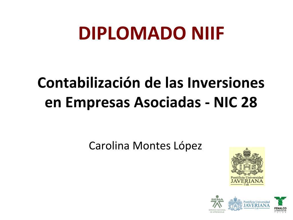 Contabilización de las Inversiones en Empresas Asociadas - NIC 28