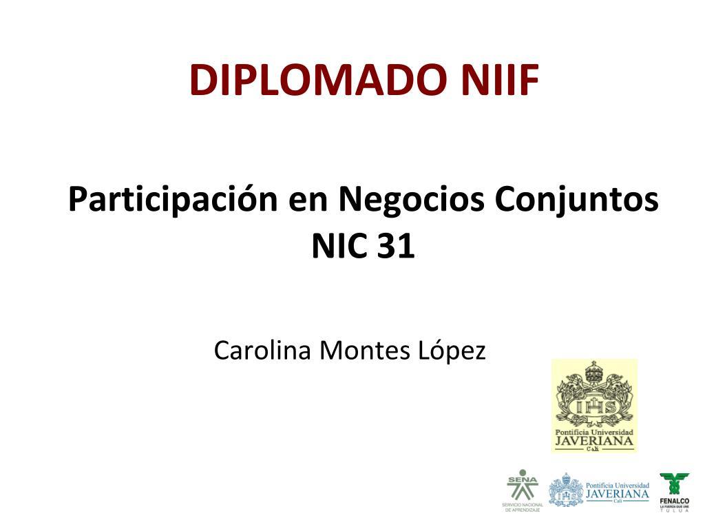 Participación en Negocios Conjuntos NIC 31