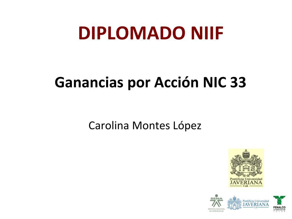 Ganancias por Acción NIC 33