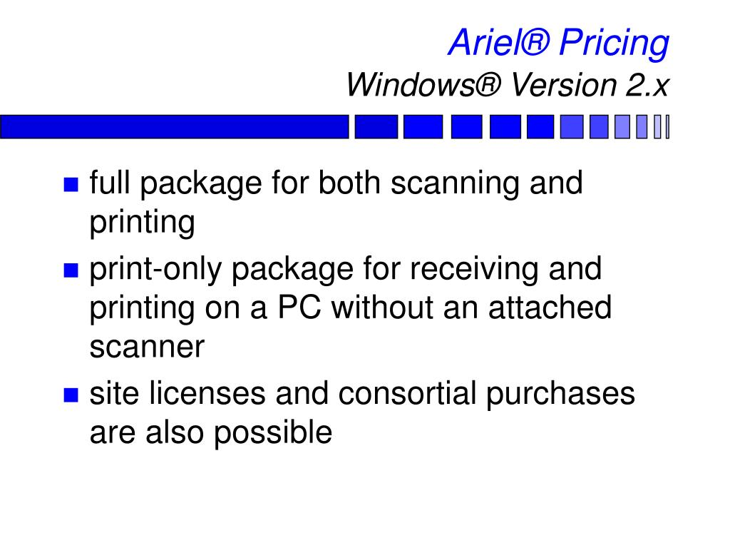 Ariel® Pricing