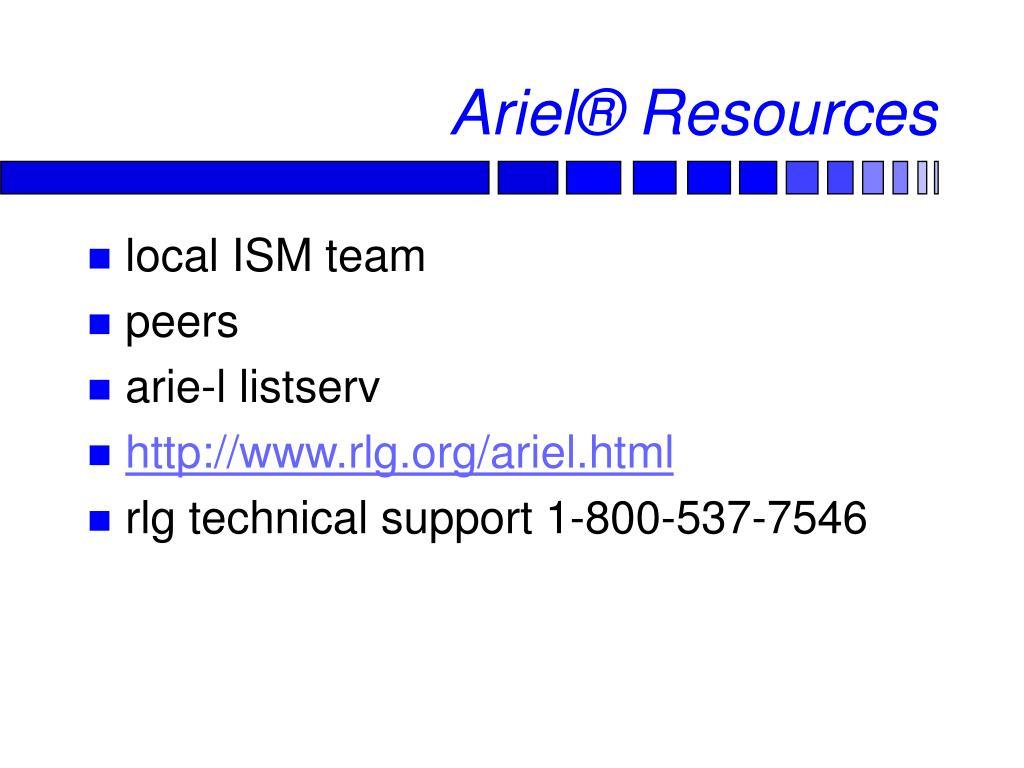 Ariel® Resources