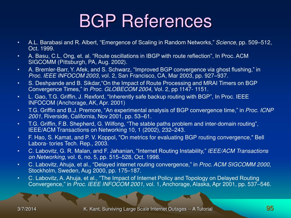 BGP References