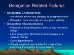 delegation related failures