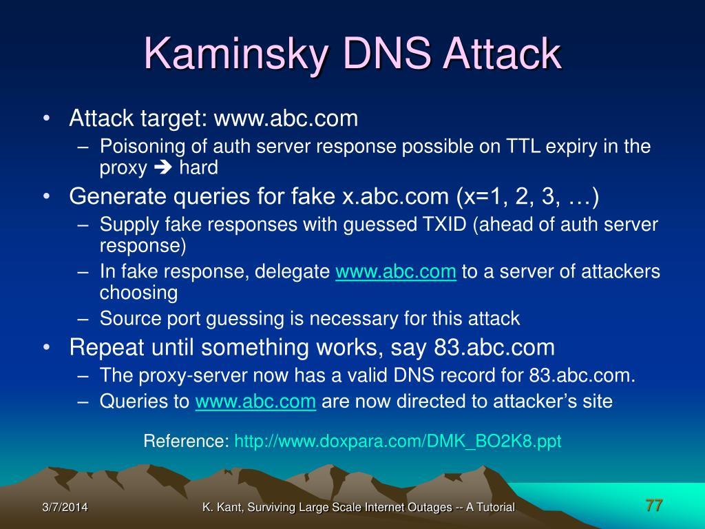 Kaminsky DNS Attack