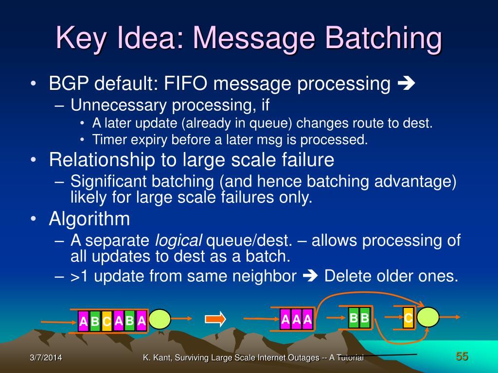 Key Idea: Message Batching