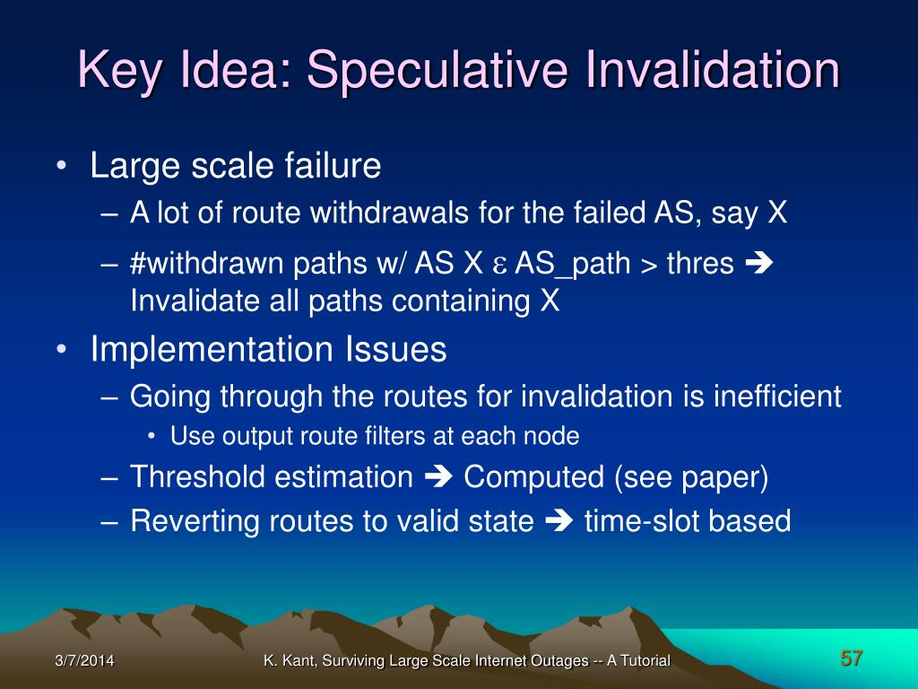 Key Idea: Speculative Invalidation