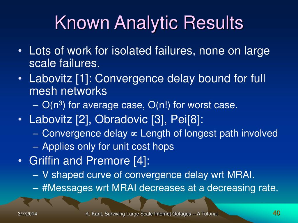 Known Analytic Results