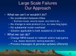 large scale failures our approach