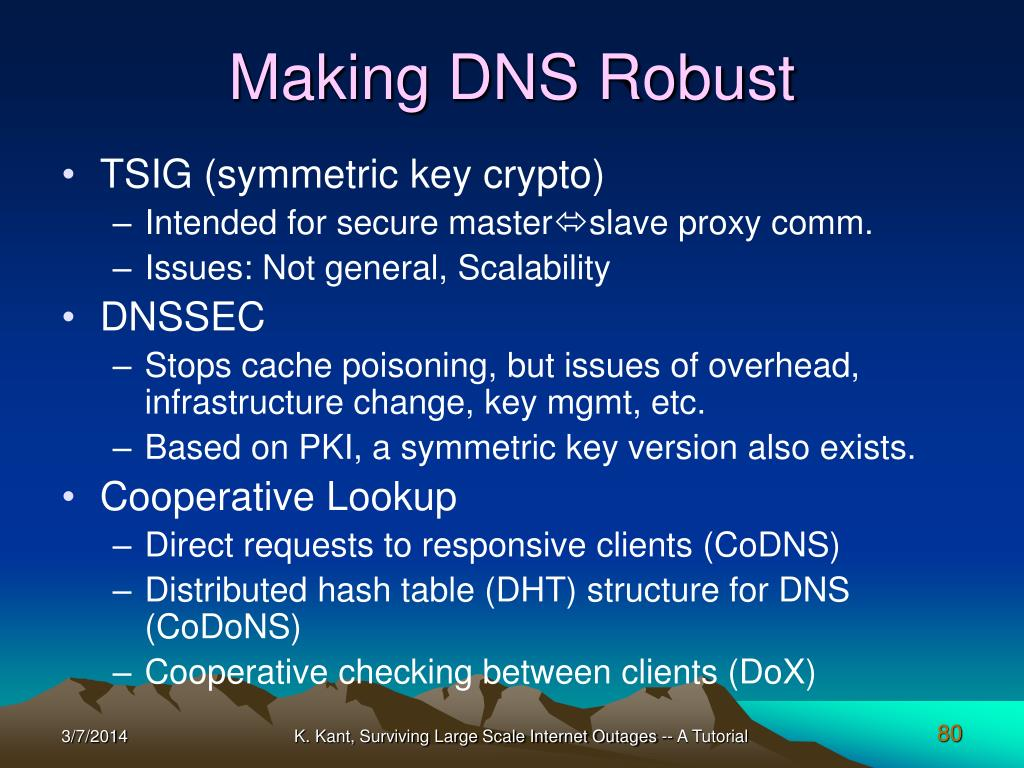 Making DNS Robust