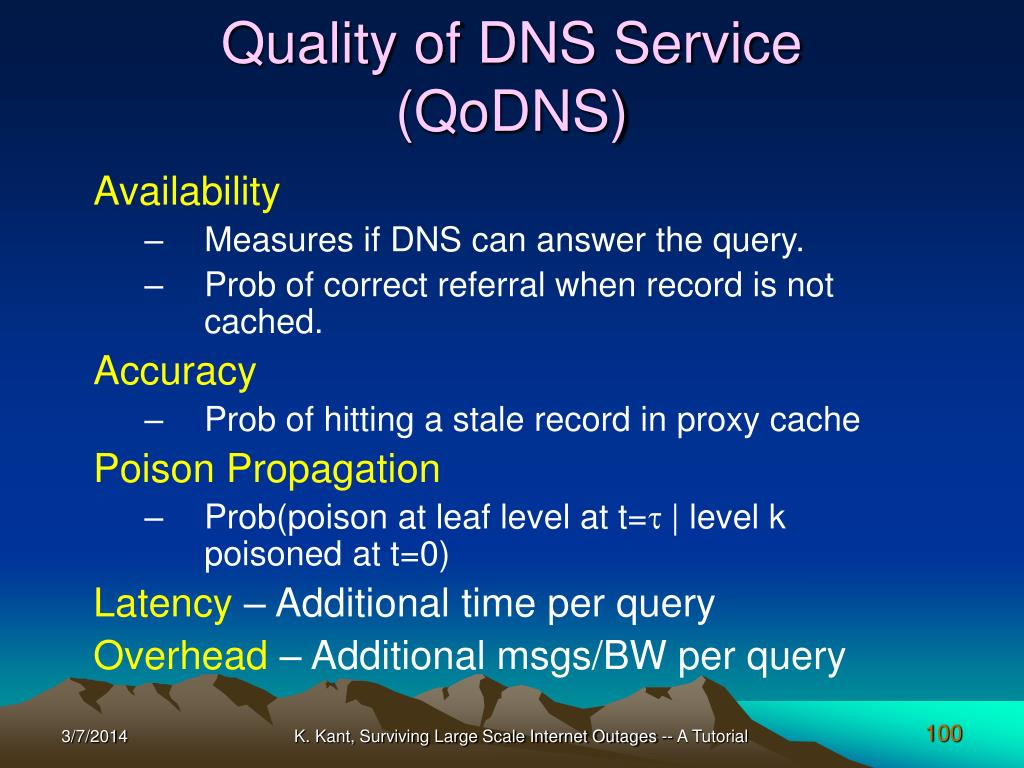 Quality of DNS Service