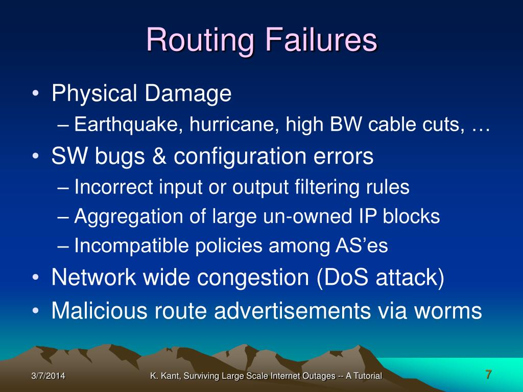 Routing Failures