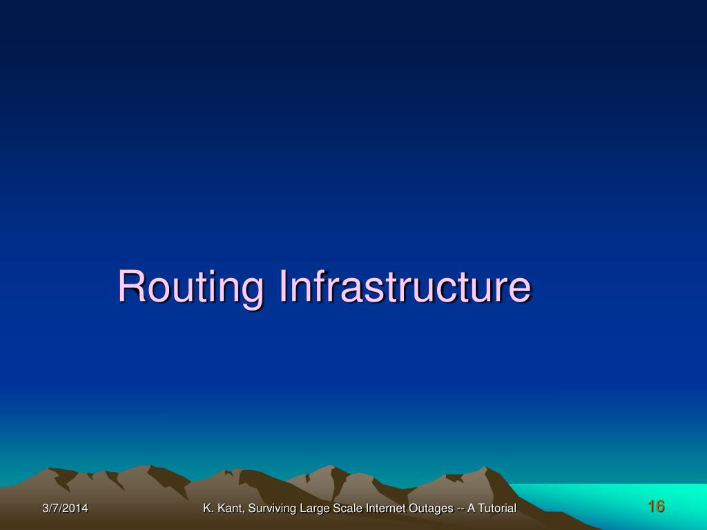 Routing Infrastructure