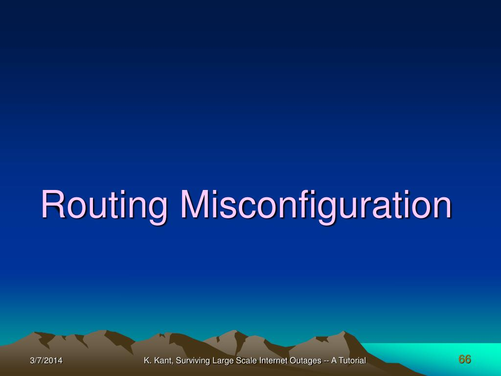 Routing Misconfiguration