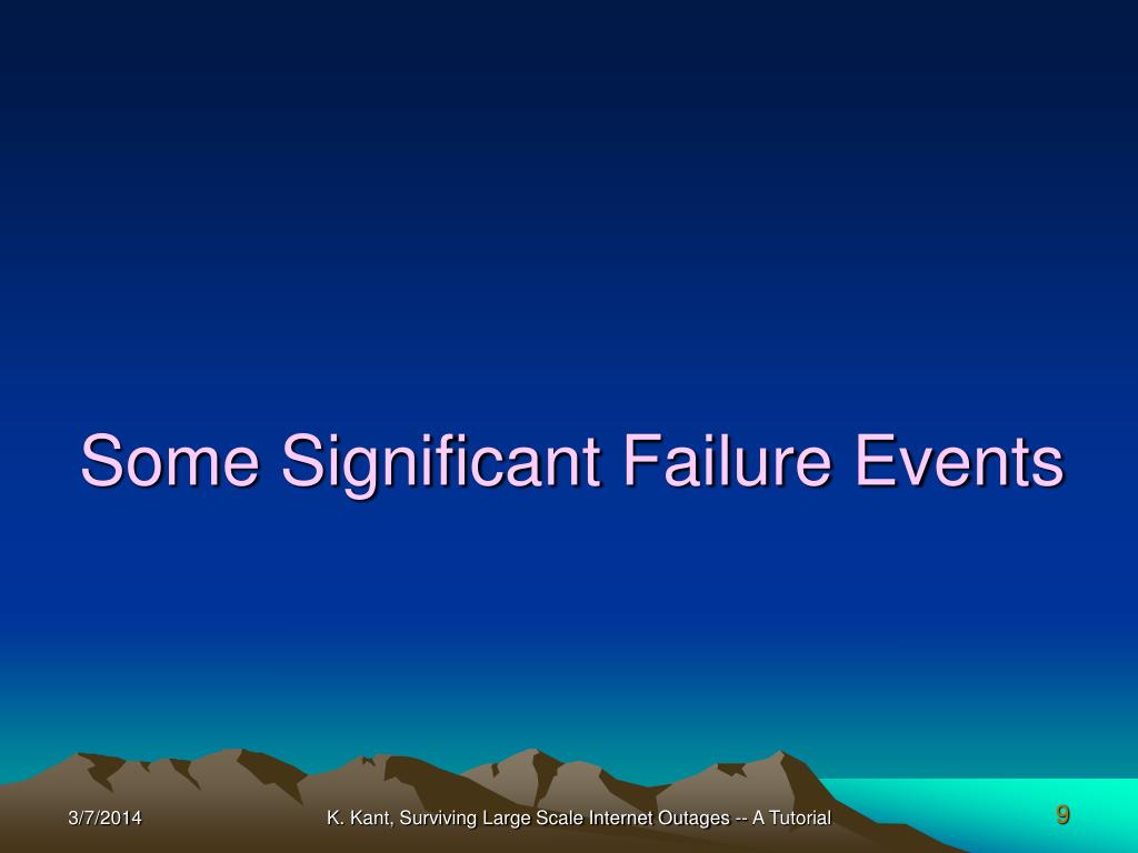 Some Significant Failure Events