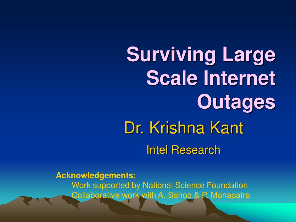 Surviving Large Scale Internet Outages